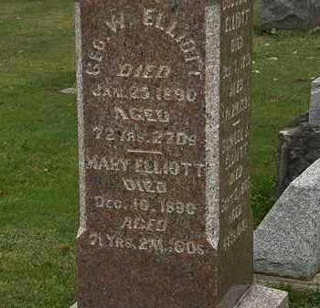 ELLIOT, GEO. W. - Morrow County, Ohio | GEO. W. ELLIOT - Ohio Gravestone Photos