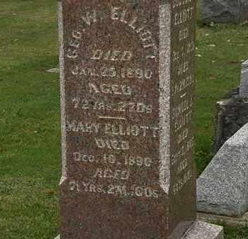 ELLIOT, MARY - Morrow County, Ohio | MARY ELLIOT - Ohio Gravestone Photos