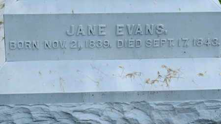EVANS, JANE - Morrow County, Ohio | JANE EVANS - Ohio Gravestone Photos