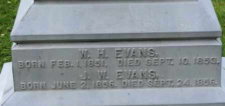 EVANS, W.H. - Morrow County, Ohio | W.H. EVANS - Ohio Gravestone Photos