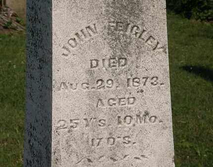 FEIGHLEY, JOHN - Morrow County, Ohio | JOHN FEIGHLEY - Ohio Gravestone Photos
