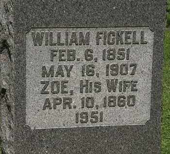 FICKEL, ZOE - Morrow County, Ohio | ZOE FICKEL - Ohio Gravestone Photos