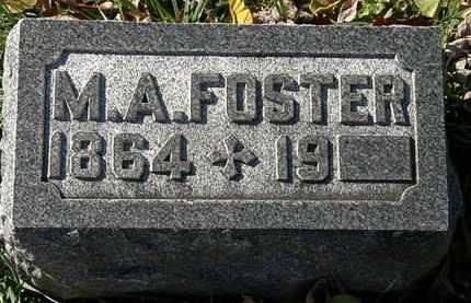 FOSTER, M.A. - Morrow County, Ohio | M.A. FOSTER - Ohio Gravestone Photos