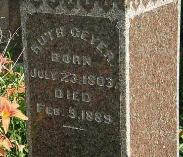 GEYER, RUTH - Morrow County, Ohio | RUTH GEYER - Ohio Gravestone Photos