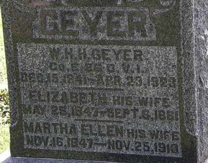 GEYER, ELIZABETH - Morrow County, Ohio | ELIZABETH GEYER - Ohio Gravestone Photos