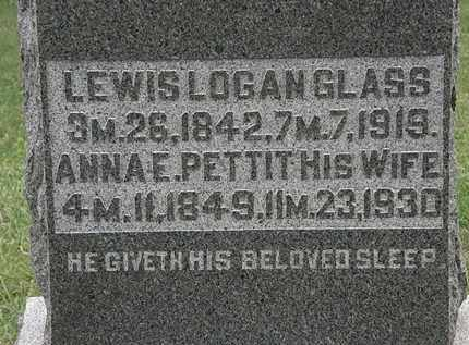 PETTIT GLASS, ANNA E. - Morrow County, Ohio | ANNA E. PETTIT GLASS - Ohio Gravestone Photos