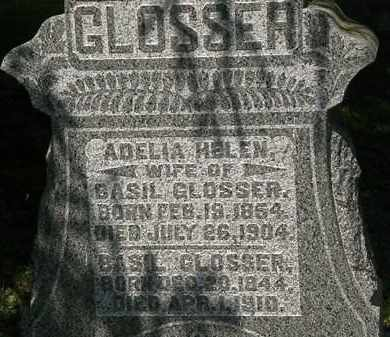 GLOSSER, ADELIA HELEN - Morrow County, Ohio | ADELIA HELEN GLOSSER - Ohio Gravestone Photos