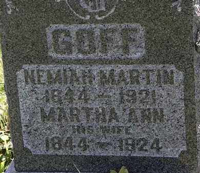 GOFF, MARTHA ANN - Morrow County, Ohio | MARTHA ANN GOFF - Ohio Gravestone Photos