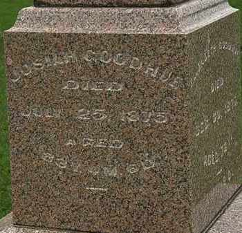 GOODHUE, JOSIAH - Morrow County, Ohio | JOSIAH GOODHUE - Ohio Gravestone Photos