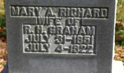 RICHARD GRAHAM, MARY A. - Morrow County, Ohio | MARY A. RICHARD GRAHAM - Ohio Gravestone Photos