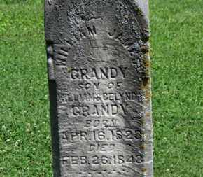 GRANDY, WILLIAM - Morrow County, Ohio | WILLIAM GRANDY - Ohio Gravestone Photos