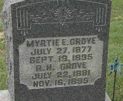 GROVE, MYRTIE E. - Morrow County, Ohio | MYRTIE E. GROVE - Ohio Gravestone Photos