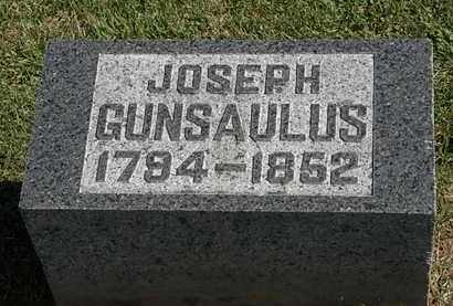 GUNSAULUS, JOSEPH - Morrow County, Ohio | JOSEPH GUNSAULUS - Ohio Gravestone Photos