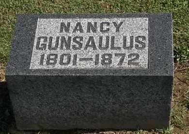 GUNSAULUS, NANCY - Morrow County, Ohio | NANCY GUNSAULUS - Ohio Gravestone Photos