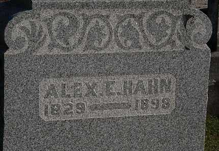 HAHN, ALEX E. - Morrow County, Ohio | ALEX E. HAHN - Ohio Gravestone Photos