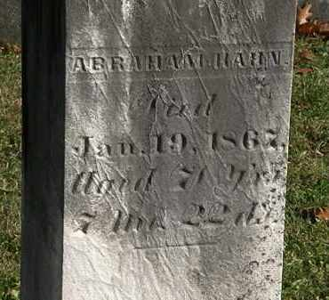 HAHN, ABRAHAM - Morrow County, Ohio   ABRAHAM HAHN - Ohio Gravestone Photos