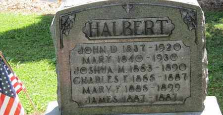 HALBERT, JOSHUA M. - Morrow County, Ohio | JOSHUA M. HALBERT - Ohio Gravestone Photos