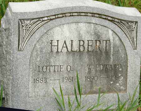 HALBERT, W. EDWARD - Morrow County, Ohio | W. EDWARD HALBERT - Ohio Gravestone Photos