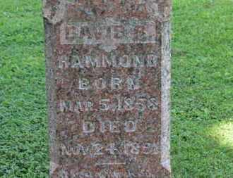 HAMMOND, DAVID B. - Morrow County, Ohio | DAVID B. HAMMOND - Ohio Gravestone Photos