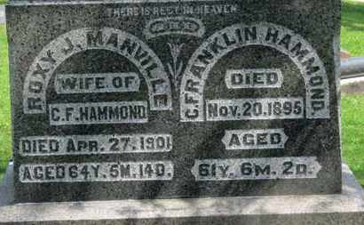 MANVILLE HAMMOND, ROXY J. - Morrow County, Ohio | ROXY J. MANVILLE HAMMOND - Ohio Gravestone Photos