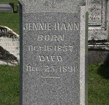 HANN, JENNIE - Morrow County, Ohio | JENNIE HANN - Ohio Gravestone Photos