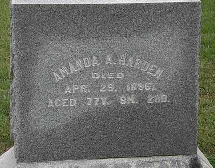 HARDEN, AMANDA - Morrow County, Ohio | AMANDA HARDEN - Ohio Gravestone Photos