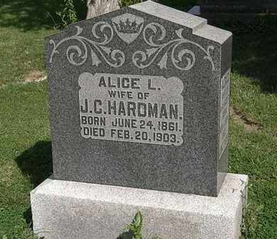 HARDMAN, ALICE L. - Morrow County, Ohio | ALICE L. HARDMAN - Ohio Gravestone Photos