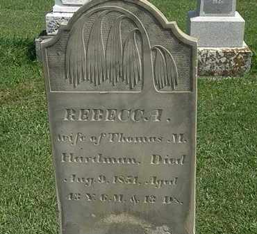 HARDMAN, REBECCA - Morrow County, Ohio | REBECCA HARDMAN - Ohio Gravestone Photos