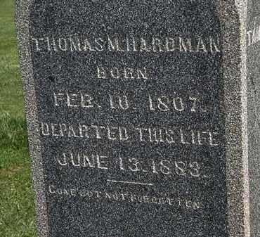HARDMAN, THOMAS - Morrow County, Ohio | THOMAS HARDMAN - Ohio Gravestone Photos