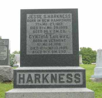 HARKNESS, CYNTHIA T. - Morrow County, Ohio | CYNTHIA T. HARKNESS - Ohio Gravestone Photos