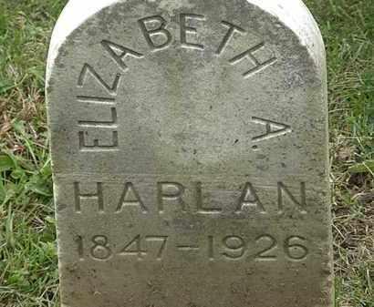 HARLAN, ELIZABETH A. - Morrow County, Ohio | ELIZABETH A. HARLAN - Ohio Gravestone Photos