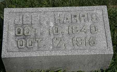 HARRIS, JEFF. - Morrow County, Ohio | JEFF. HARRIS - Ohio Gravestone Photos