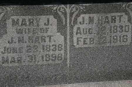 HART, MARY J. - Morrow County, Ohio | MARY J. HART - Ohio Gravestone Photos