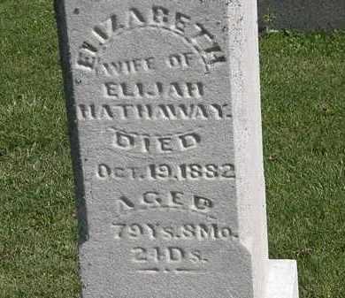 HATHAWAY, ELIZABETH - Morrow County, Ohio | ELIZABETH HATHAWAY - Ohio Gravestone Photos