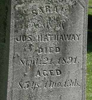 HATHAWAY, SARAH - Morrow County, Ohio | SARAH HATHAWAY - Ohio Gravestone Photos