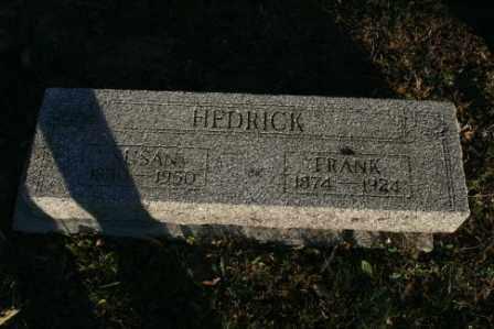 HEDRICK, SUSAN - Morrow County, Ohio | SUSAN HEDRICK - Ohio Gravestone Photos
