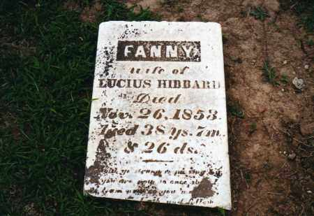 "HIBBARD, FRANCES ""FANNY"" - Morrow County, Ohio 