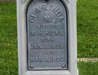 HICKS, M.H. - Morrow County, Ohio | M.H. HICKS - Ohio Gravestone Photos