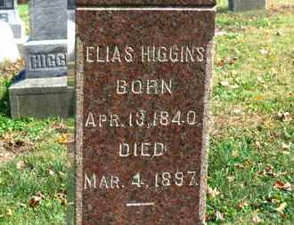 HIGGINS, ELIAS - Morrow County, Ohio | ELIAS HIGGINS - Ohio Gravestone Photos