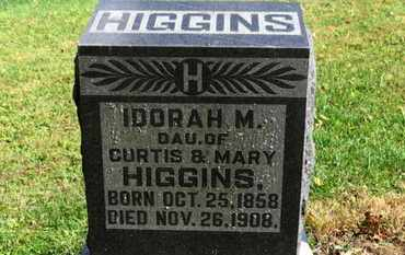 HIGGINS, IDORAH M. - Morrow County, Ohio | IDORAH M. HIGGINS - Ohio Gravestone Photos