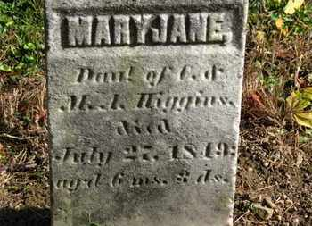 HIGGINS, MARY JANE - Morrow County, Ohio | MARY JANE HIGGINS - Ohio Gravestone Photos