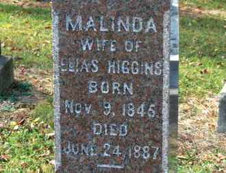 HIGGINS, MALINDA - Morrow County, Ohio | MALINDA HIGGINS - Ohio Gravestone Photos