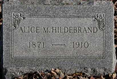 HILDEBRAND, ALICE M. - Morrow County, Ohio | ALICE M. HILDEBRAND - Ohio Gravestone Photos