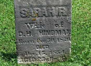 HINDMAN, SARAH R. - Morrow County, Ohio | SARAH R. HINDMAN - Ohio Gravestone Photos
