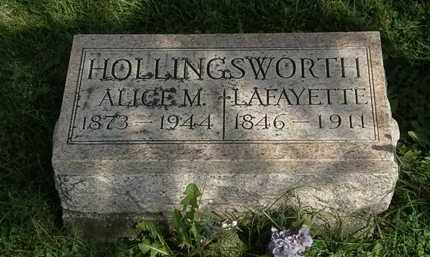 HOLLINGSWORTH, ALICE M. - Morrow County, Ohio | ALICE M. HOLLINGSWORTH - Ohio Gravestone Photos