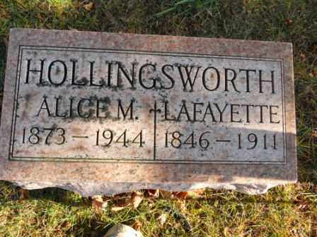 HOLLINGSWORTH, ALICE M - Morrow County, Ohio | ALICE M HOLLINGSWORTH - Ohio Gravestone Photos