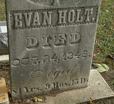 HOLT, EVAN - Morrow County, Ohio | EVAN HOLT - Ohio Gravestone Photos