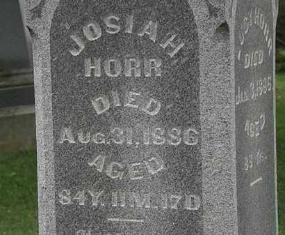 HORR, JOSIAH - Morrow County, Ohio | JOSIAH HORR - Ohio Gravestone Photos