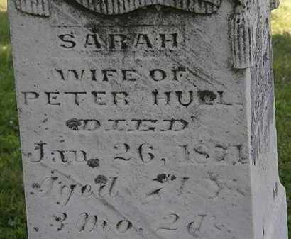HULL, SARAH - Morrow County, Ohio | SARAH HULL - Ohio Gravestone Photos