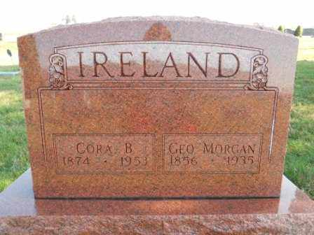 IRELAND, CORA B - Morrow County, Ohio | CORA B IRELAND - Ohio Gravestone Photos